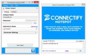 окно программы Connectify