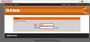 войти в веб-интерфейс роутера d-link
