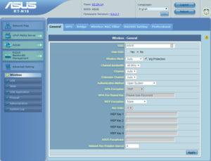 Канал wi-fi на роутере Asus