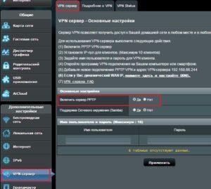 Настройка VPN-сервера