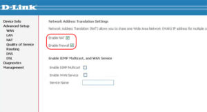 Enable Firewall, Enable NAT NetByNet