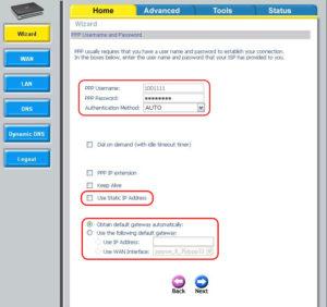 PPP логин и пароль