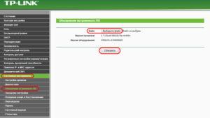 Обновление ПО через веб-интерфейс
