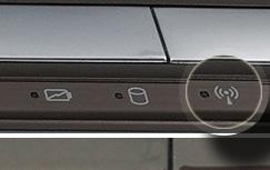 На ноутбуках есть световой индикатор со значком в виде антенны