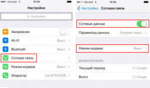Личная точка доступа iPhone 5s