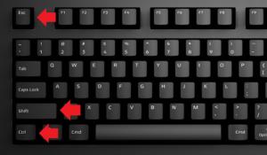 Нажать одновременно клавиши ctrl+shift+esc