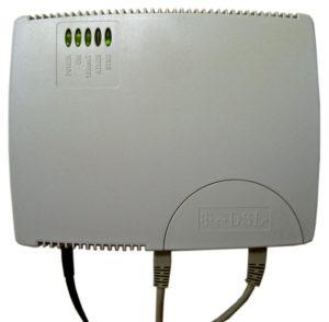 Стандартный внешний вид модема для доступа ксети при помощи АДСЛ