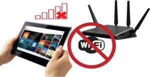 Почему планшет неподключается кWi-Fi