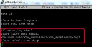 Файл «interfaces» может содержать запись для wlan0 в несколько иной форме