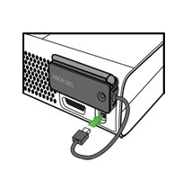 Подключение адаптера к игровой консоли