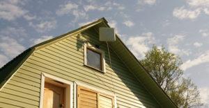 Монтаж антенны на крыше