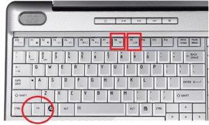 Набор клавиш для модели Toshiba Satellite