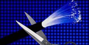 Повреждение оптоволоконного кабеля