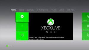 Главное меню Xbox 360