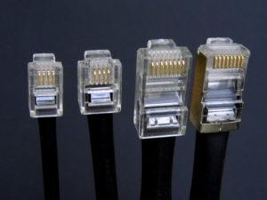 Вид 4-х и 8-ми жильного кабеля с крепежом