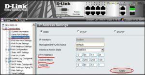Настраиваемые параметры IP-адреса