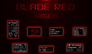 Набор многофункциональных виджетов Blade Red Gadgets