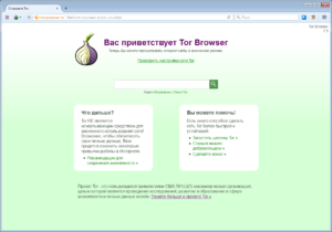 Главная страница Tor
