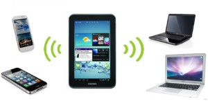 Смартфон может стать точкой доступа для всех устройств, имеющих вайфай адаптер