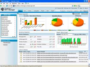 Интерфейс программы WiFi Manage Engine