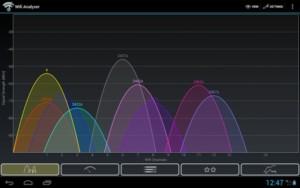 Проверка уровня сигнала в WiFi Analyzer Premium