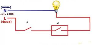 Принцип работы заключается в размыкании цепи при поступлении сигнала