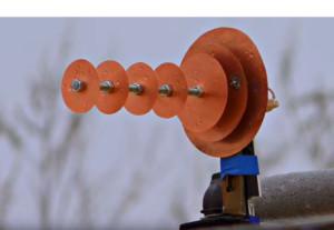 Штырьковая антенна с рефлектором