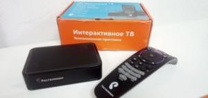 IPTV от Ростелеком с приставкой и пультом