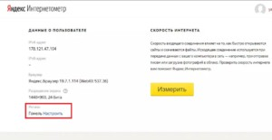 Отображение региона в Yandex.Интернетометр