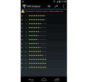 Рейтинг сетей после проведения сканирования, составленный на данных о качестве сигнала