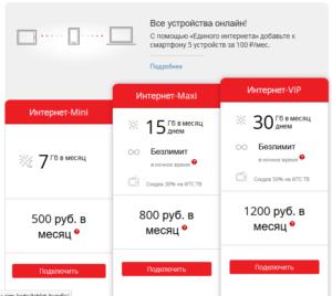 Тарифы на мобильный домашний интернет с большим количеством Гб