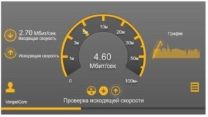 Проверка показателей домашнего интернета от «Билайн»